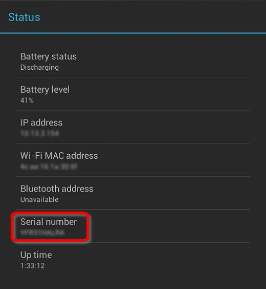how to change model number in android