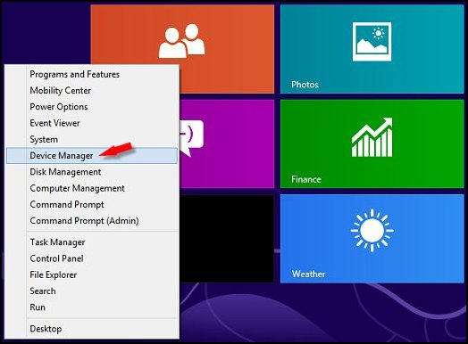 Image of Win 8 Device Manager.