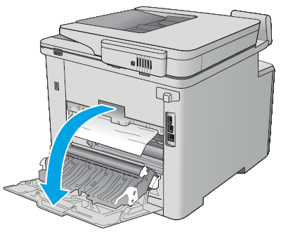 Hp Color Laserjet Pro Mfp M377 M477 Clear Paper Jams In The Rear Door And Fuser Area Hp Customer Support