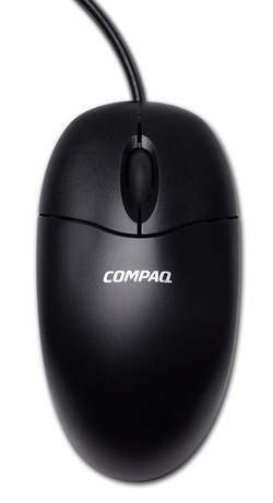 Compaq PS/2 optical mouse top view