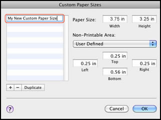 Custom paper size brother printer
