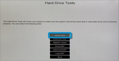 Harddisktester: Quick Test