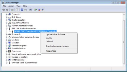 AGERE OHCI DRIVER FOR WINDOWS