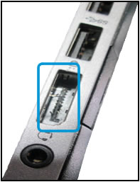Example of DVI port damage