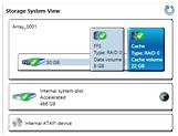 Storage System View with mSATA cache drive and FFS partition
