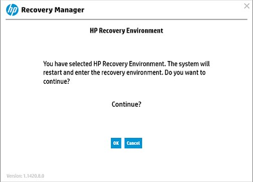 Confirm System Recovery