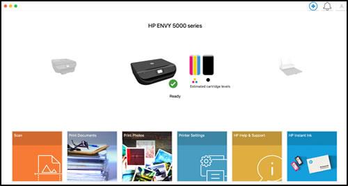 Página de inicio de HP Smart