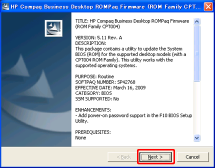 HP Compaq Business Desktop CPT004 ROMPaq Drivers (2019)