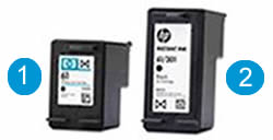HP Instant Ink and standard ink cartridges