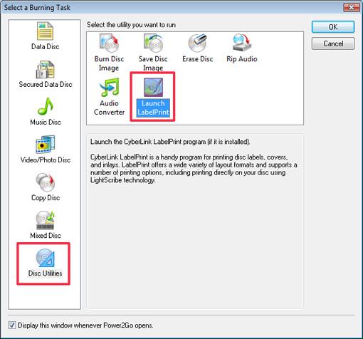 cyberlink labelprint verwijderen