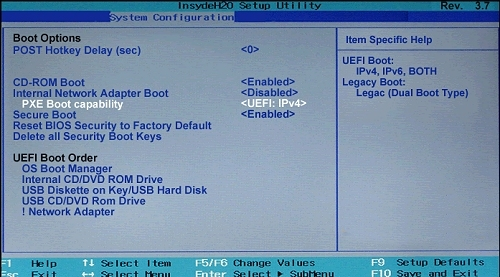 Hp Boot Options