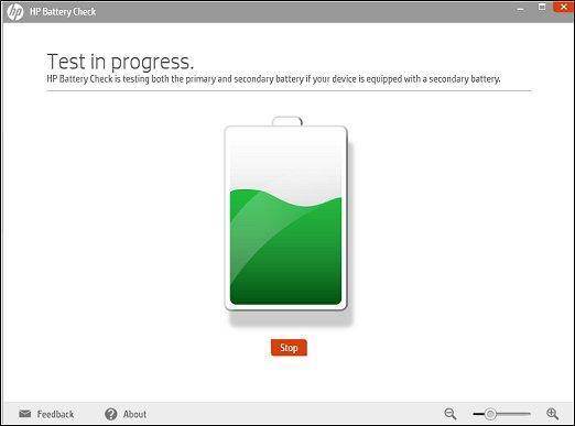 HP Battery Check in progress