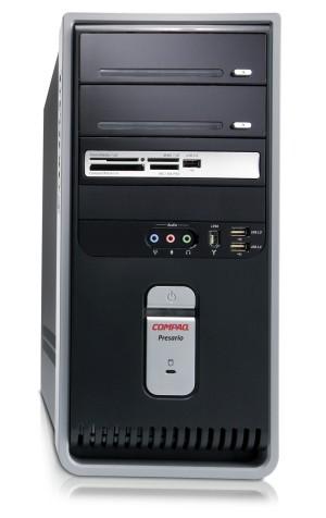 how to open a compaq presario desktop case