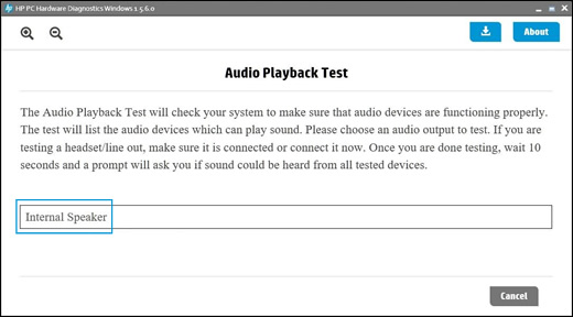 Select an audio device to test