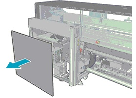 Image: The removed rear printer enclosure panel