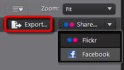 Export photos