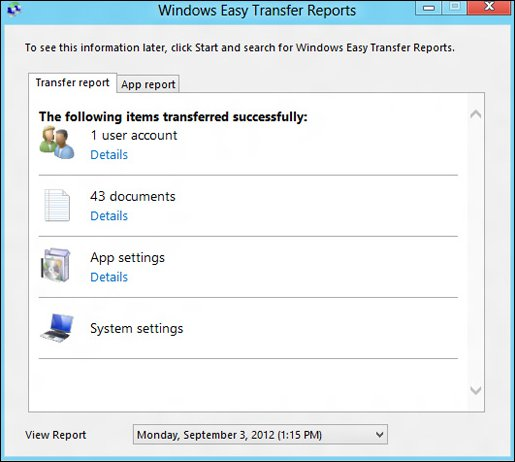 how to use windows easy transfer windows 8