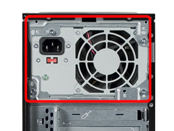 Image of an upright power supply
