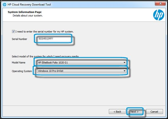 HP Business PCs - Using the HP Cloud Recovery Download Tool | HP