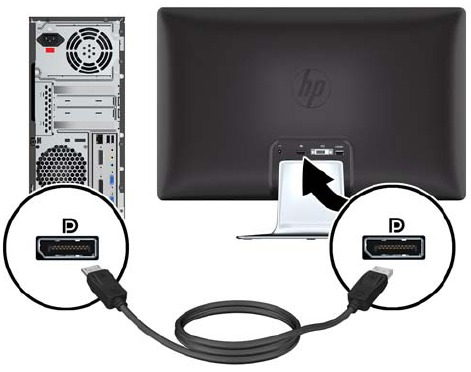 HP 2310e and 2310ei LCD Monitors - Setting Up Your Monitor