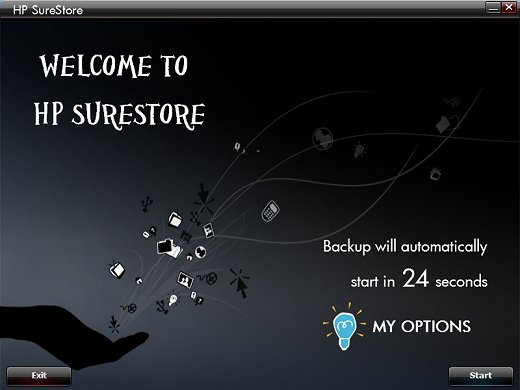 Image of the Welcome page