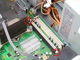HP Compaq dc7800 Convertible Minitower PC - Removing and