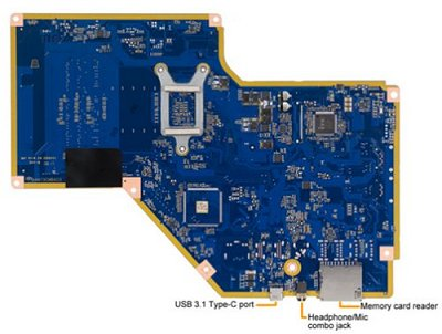 Suliban-A9 motherboard bottom view