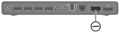 Image of the HDMI connector.