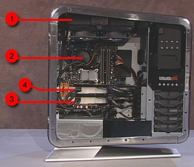 Coolant Reservoir Processor Graphics Card One