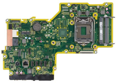 Top view of Crusher-U motherboard