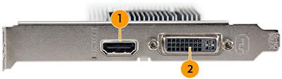 NVIDIA GeForce GT 710 ports