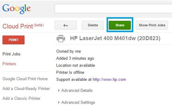 HP LaserJet, HP PageWide Enterprise - Setup Google Cloud Print | HP