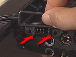 Image showing the I/O cable guide being replaced