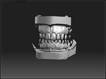 Example of 3D scan with 3D view selected