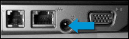 Bent or damaged pin in the power connector on the computer
