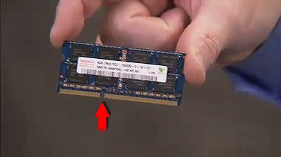 Finding the notch on the memory module