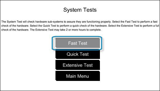 Selecting the Fast Test