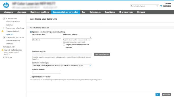 Hp Enterprise Mfp Scannen Naar Netwerkmap Instellen Hp