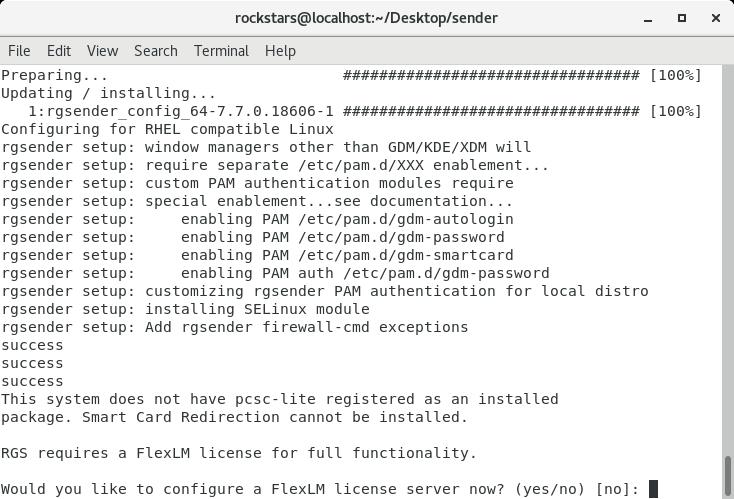HP Remote Graphics Software (RGS) - Linux Sender Installer