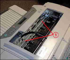 Hp 7760 white strip on print