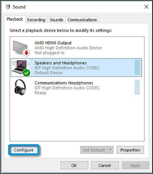 how to connect speakers to laptop windows 10