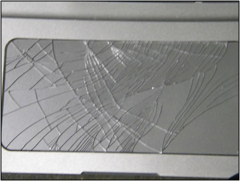 Example of touchpad damage