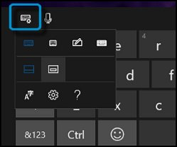 Keyboard button and menu it opens