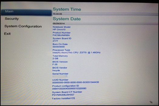 BIOS Setup permits you to set security and system adjustments