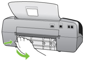 Illustration of removing the rear access door