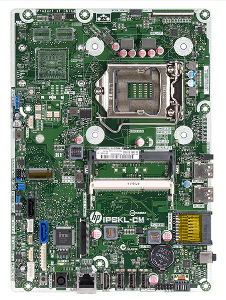Camry-U motherboard top view