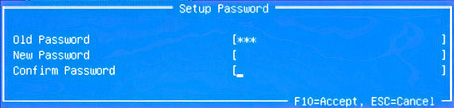 Power-On Password screen