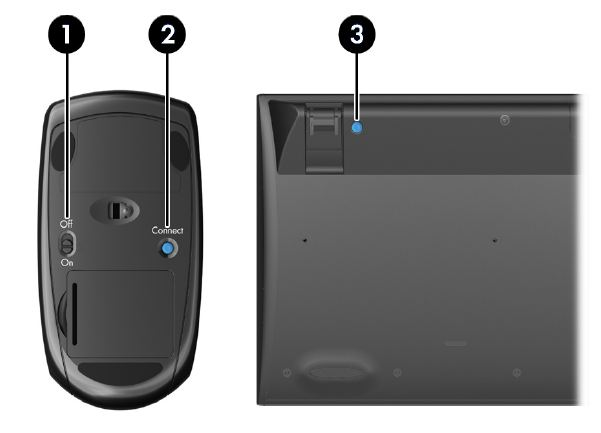 how to know if wiresless mouse is connected