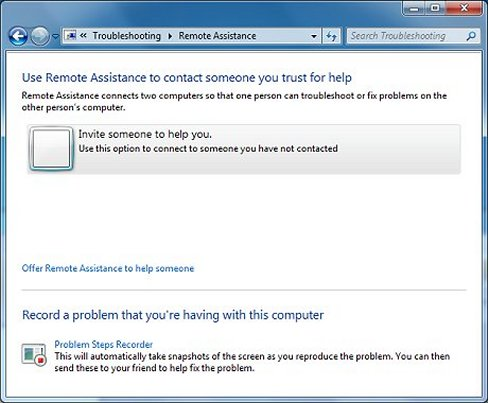 Remote Assistance tool