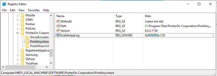 HP PrinterOn Enterprise - How can I see logs from the ACM (Access